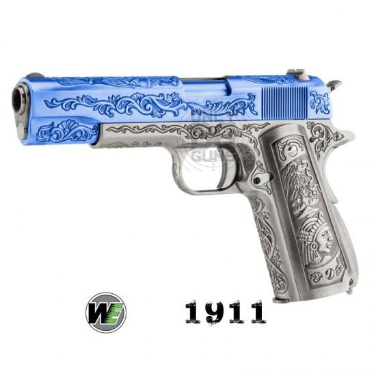 "WE 1911 Engraved ""MEHICO DRUGLORD"" Gas Blowback Pistol"