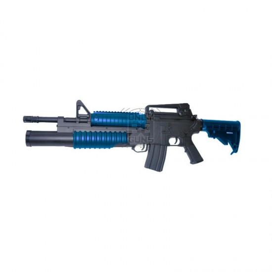 """DOUBLE EAGLE - M4 """"GRENADIER"""" - M4 RIS-AEG & TRI-SHOT - M203 (M813)"""