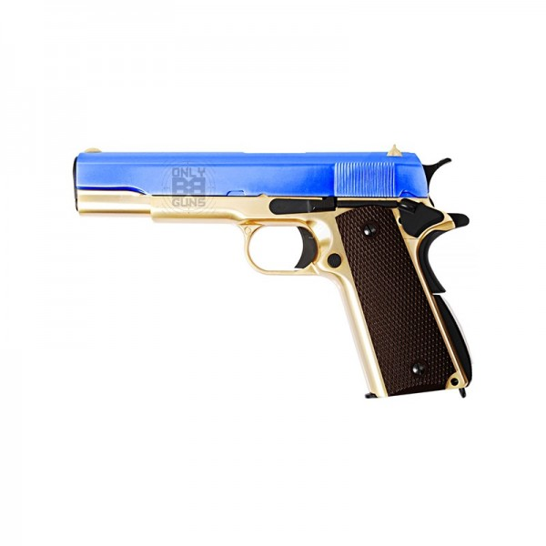 WE 1911A Titanium Gold Gas Blowback Pistol (Full metal - Gold)