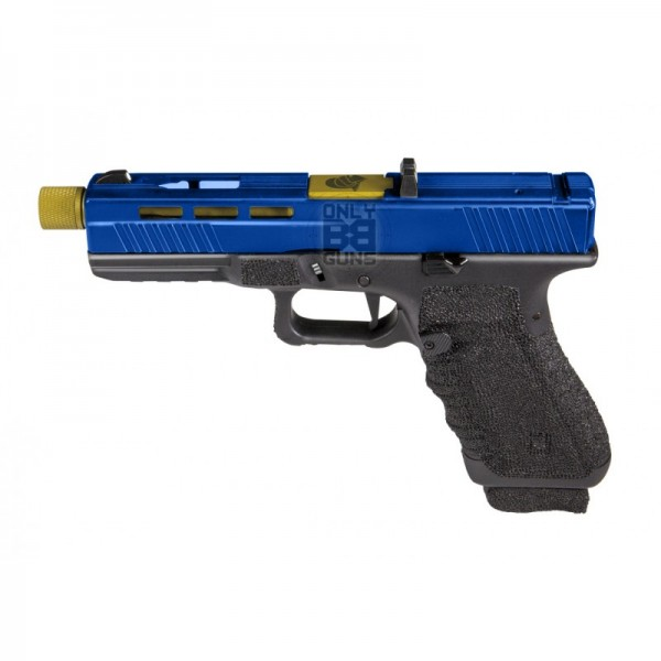 Secutor - Gladius - 17 Series Custom Pistol (Gold Barrel - Co2 Powered - Gas Ready - Black)
