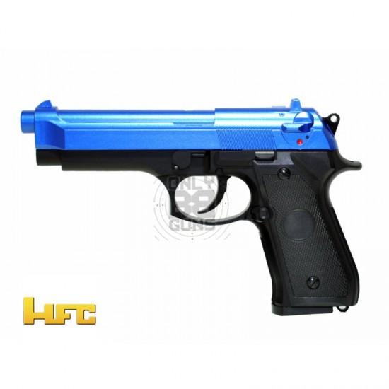 Gas powered HFC M9 NBB Pistol with Rail (Blue GG 105)