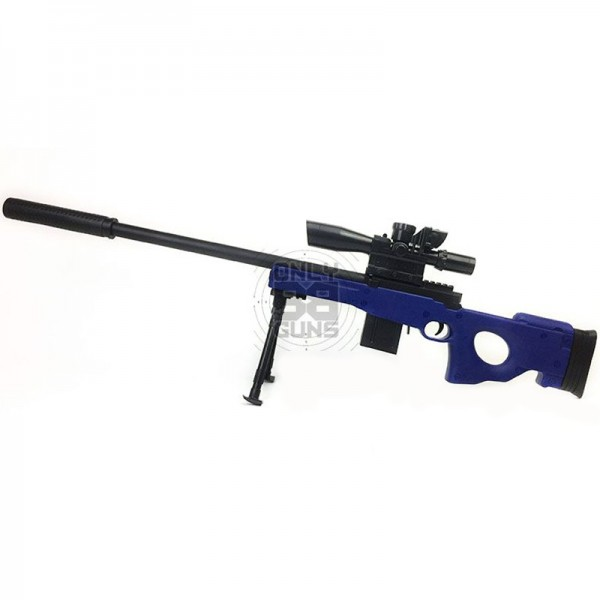 L96 Sniper Rifle With Scope, Bipod and Silencer (Spring Riffle - CCCP Custom Blue 929-2)