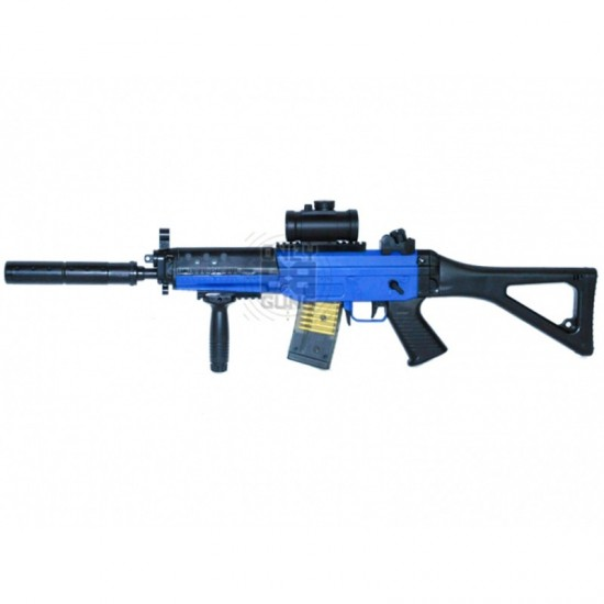 Electric Powered Double Eagle 555 AEG Rifle (M82 Blue)
