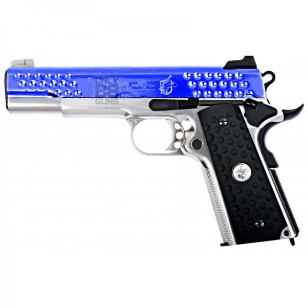 Gas WE Knight Hawk Silver 1911 Full Metal (Gas Powered)
