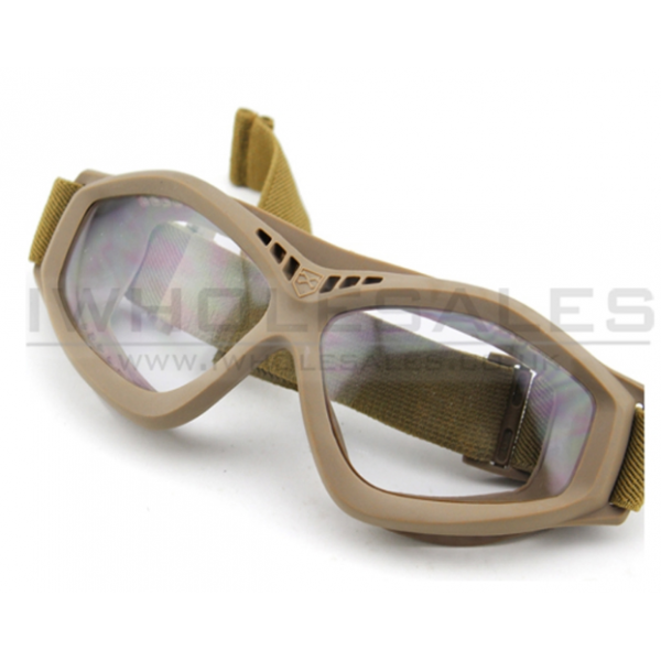 Big Foot Clear Glasses (Tan)
