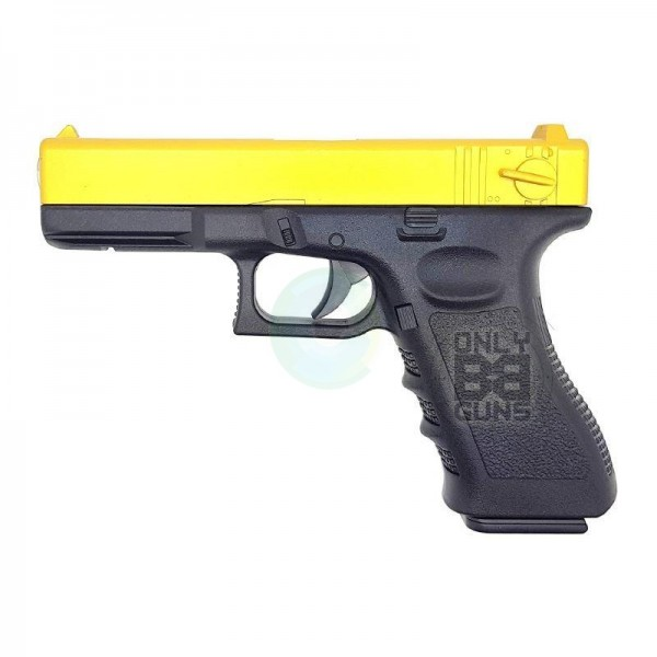 GOLDEN HAWK 17 SERIES PISTOL (1:1 SCALE - FULL METAL SLIDE - GOLD)