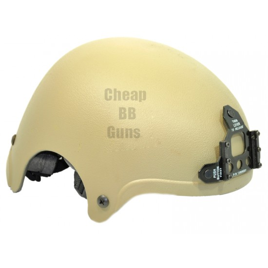 CCCP IBH Airsoft Helmet with NVG Mount (Tan)