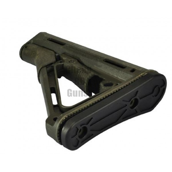PTS CTR Style Stock & Rubber Butt - OD (Green)