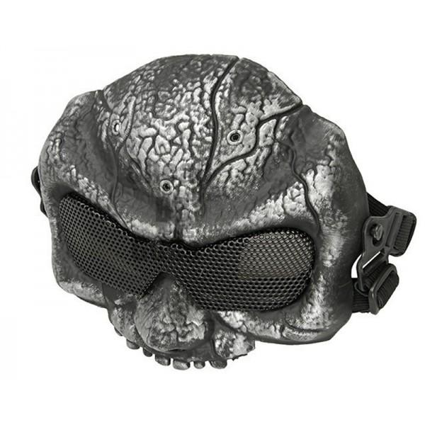 Goblin Halve Mesh Mask (Silverish)