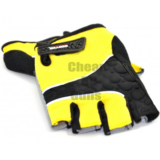 Gloves with Extra Hand and Palm Protection (Breathable Material) (Yellow)