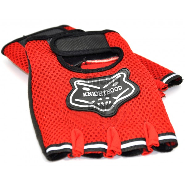 Gloves with Protection (Red)